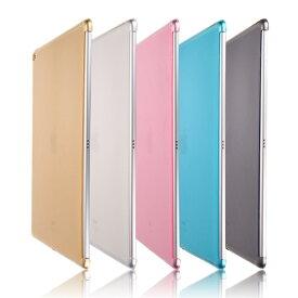 iPad Pro 10.5インチ/Air3 2019年版/Pro 12.9インチ(2015)/Pro 12.9インチ(2017)選択 TPU ソフト バック カバー 半透明 背面ケース 落下防止 スマートカバー、スマートキーボード対応 (ブラック、クリア、ピンク、ブルー、ゴールド)5カラー選択