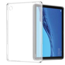 送料無料 Dtab Compact d-02K/MediaPad Huawei 10.1インチ/M5 Lite 10/MediaPad T5 10機種選択 TPU ケース クリア ホワイト ソフト バック カバー 半透明 背面 ケース 落下防止 衝撃吸収 擦り傷防止 フルカバー