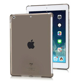 送料無料 NEW iPad 9.7インチ 第5世代 2017/第6世代 2018年モデル用 TPU ソフト バック カバー 半透明 背面ケース 落下防止 スマートカバー対応 (ブラック、クリア、ブルー、ゴールド、オレンジ、ピンク、レッド)7カラー選択