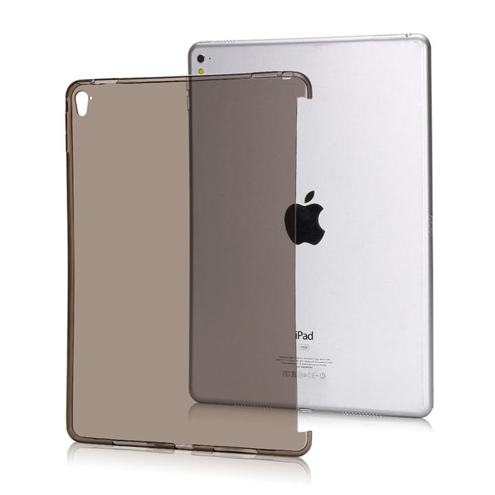 "NEW iPad 9.7"" 第5/6世代 2017/ 2018年モデル/Pro 9.7/10.5インチ/Air3 2019/mini2/3/Mini4/mini5 2019年選択 TPU ソフト バック カバー 半透明 クリアタイプ 背面ケース 落下防止 スマートカバー、スマートキーボード対応 (ブラック クリア ブルー ゴールド ピンク)5色選択"
