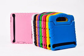送料無料 iPad mini初代/mini2/mini3/mini4通用 EVA 耐衝撃 保護ケース キッズ 手提げバック風、スタンド機能 (ブラック、グリーン、パープル、イエロー、オレンジ、ブルー、ピンク、ローズ、レッド)9カラー選択