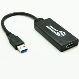 送料無料 USB3.0 Type A to HDMI アダプタ オス−メス 1080P フルHD USB-HDMI For Windows7/Windows8/Windows10