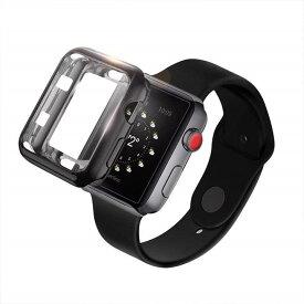 Apple Watch アップルウォッチ 40mm/44mmサイズ選択 TPU メッキ ケース カバー 保護ケース 耐衝撃性 脱着簡単 超簿 Appleウォッチ 2サイズに対応 6色選択