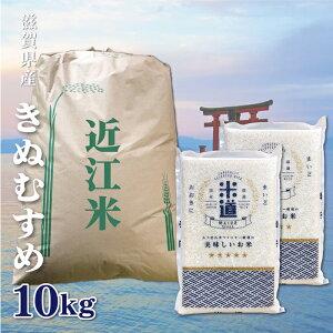 米 10kg 送料無料 白米 無洗米 きぬむすめ 5kg×2 新米 令和二年産 滋賀県産 10キロ お米 玄米 ごはん 一等米 単一原料米 分付き米対応可 保存食 米 真空パック 高級
