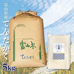 【送料無料】【新米】富山県産 てんたかく 5Kg 5キロ お米 無洗米 令和二年産 玄米 白米 ごはん 慣行栽培米 一等米 単一原料米 分付き米対応可 保存食 米 真空パック 高級 保存米 米