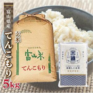 玄米 5kg 送料無料 白米 無洗米 てんこもり 新米 令和二年産 富山県産 5キロ 5キロ お米 玄米 ごはん 慣行栽培米 一等米 単一原料米 分付き米対応可 保存食 米 真空パック 高級