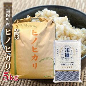 玄米 5kg 送料無料 白米 無洗米 ヒノヒカリ 新米 令和二年産 福岡県産 5キロ お米 玄米 ごはん 慣行栽培米 検査米 単一原料米 分付き米対応可 保存食 米 真空パック 長期保存 高級 保存米