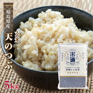 玄米 5kg 送料無料 白米 無洗米 天のつぶ 新米 令和二年産 福島県産 5キロ お米 玄米 ごはん単一原料米 保存食 米 真空パック 保存米 米