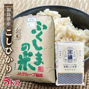 玄米 5kg 送料無料 白米 無洗米 こしひかり 新米 令和二年産 福島県産 5キロ お米 玄米 ごはん単一原料米 保存食 米 真空パック 保存米
