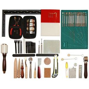 レザクラフト 工具セット 道具 キット 初心者 革手縫い工具セット