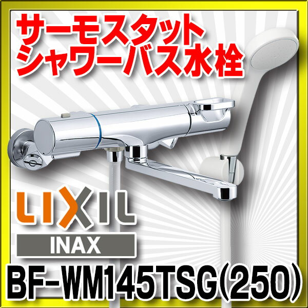 【最安値挑戦中!最大23倍】INAX BF-WM145TSG(250) シャワーバス水栓 サーモスタット クロマーレS エコフルスプレーシャワー 一般地用 [□]