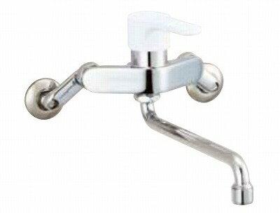【最安値挑戦中!最大17倍】水栓金具 INAX SF-WL435SY キッチン用 壁付 ノルマーレS(エコハンドル) シングルレバー 吐水口長さ220mm 一般地 [□]