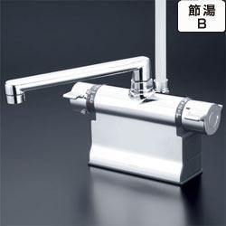 【最安値挑戦中!最大34倍】シャワー水栓 KVK KF3011T 浴室シャワー水栓 可変ピッチ式 デッキ形サーモスタット式シャワー 190mmパイプ仕様