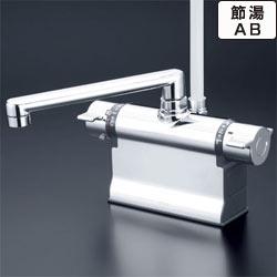 【最安値挑戦中!最大23倍】シャワー水栓 KVK KF3011TS2 浴室シャワー水栓 可変ピッチ式 デッキ形サーモスタット式シャワー 190mmパイプ仕様