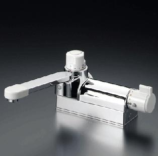 【最安値挑戦中!最大24倍】混合栓 KVK KM298G お湯ぴた デッキ形定量止水付サーモスタット式混合栓