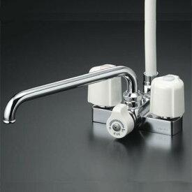 【最安値挑戦中!最大24倍】シャワー水栓 KVK KF12E デッキ形2ハンドルシャワー 取付ピッチ100mm [ ]