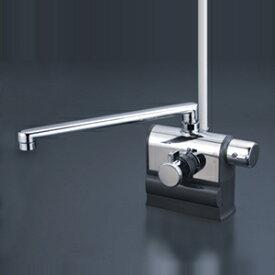 【最安値挑戦中!最大25倍】KVK KF3008RR3 デッキ形サーモスタット式シャワー 右ハンドル仕様 (300mmパイプ付)