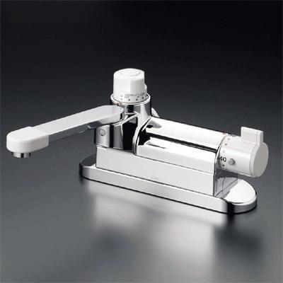 【最安値挑戦中!最大24倍】混合栓 KVK KM297G お湯ぴた デッキ形定量止水付サーモスタット式混合栓