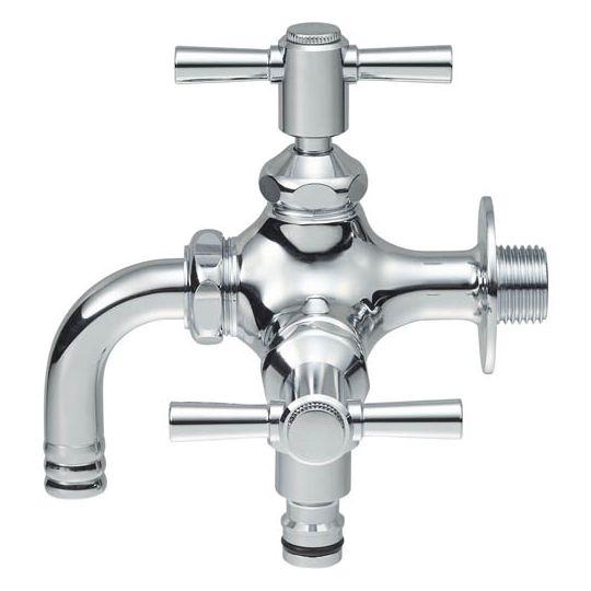 【最安値挑戦中!最大24倍】水栓金具 三栄水栓 F126YV-13 散水用二口横水栓 [□]