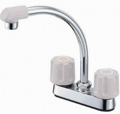 【最安値挑戦中!最大21倍】水栓金具 三栄水栓 K71D-LH-13 ツーバルブ台付混合栓 [□]