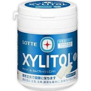 【ロッテ】 キシリトール(XYLITOL) ガム フレッシュミント ファミリーボトル 143g【特定保健用食品】