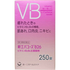 【第3類医薬品】【数量限定特価】新エバユースB26 250錠