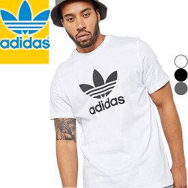 アディダス Tシャツ メンズ 半袖 カジュアル ブランド 綿100% 大きいサイズ クルーネック プリント ロゴ 白 黒 グレー アディダス オリジナルス adidas CY4574 CW0709 CW0710 [メール便発送]