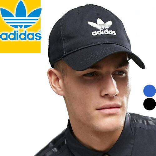 アディダス キャップ 帽子 ローキャップ スナップバック ストラップバック メッシュキャップ メンズ レディース ブランド 無地 ブラック ブルー 黒 青 トレフォイル adidas Originals TREFOIL CAP [メール便発送]