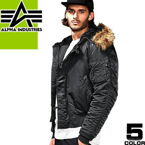 アルファ インダストリーズ N-2B ジャケット メンズ フライトジャケット ミリタリージャケット 大きいサイズ ファー 防寒 Alpha Industries
