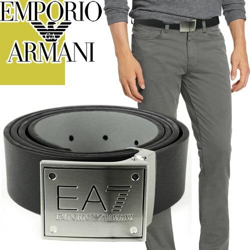 アルマーニ Emporio Armani EA7 ベルト レザー メンズ ブランド ブラック 黒 ビジネス プレゼント 275376 275524 [S]