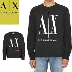 アルマーニ エクスチェンジ ARMANI EXCHANGE スウェット トレーナー メンズ 2020年秋冬新作 立体ロゴ刺繍 ブランド 薄手 大きいサイズ 黒 ブラック グレー ARMANI EXCHANGE 8NZMPA ZJ1ZZ [S]