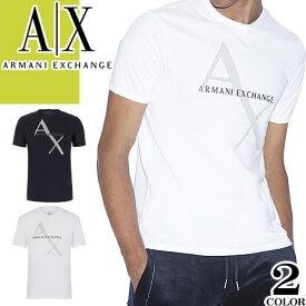アルマーニ エクスチェンジ Tシャツ メンズ 半袖 ブランド 大きいサイズ ロゴ プリント 白 黒 ホワイト ブラック ARMANI EXCHANGE 8NZT76 Z8H4Z [メール便発送]