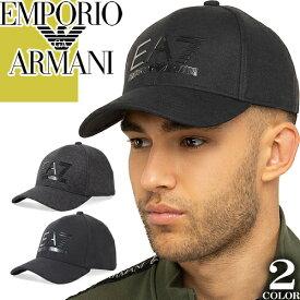 エンポリオアルマーニ EMPORIO ARMANI EA7 キャップ 帽子 メンズ 2019年秋冬新作 ベースボールキャップ スナップバックキャップ ブランド 大きいサイズ 黒 ブラック 275889 9A503 [S]