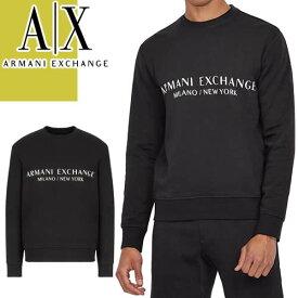 アルマーニ エクスチェンジ セーター ニット メンズ 2020年春夏新作 ブランド 長袖 クルーネック ロゴ 大きいサイズ 黒 白 ブラック ホワイト ARMANI EXCHANGE 3HZM1F ZMU6Z [S]
