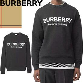 バーバリー BURBERRY トレーナー スウェット メンズ 2020年春夏新作 ブランド おしゃれ 大きいサイズ 綿100% プリント ロゴ 黒 ブラック Logo Print Cotton Sweatshirt 8011357 A1189 [S]