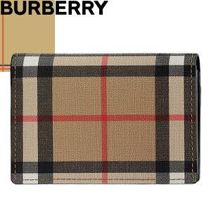 バーバリー BURBERRY 名刺入れ カードケース メンズ レディース ヴィンテージチェック ブランド 軽量 スリム 薄型 ベージュ Vintage Check Card Holder 8017452 A7026 [S]
