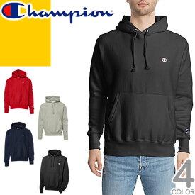 チャンピオン Champion パーカー スウェット メンズ プルオーバー ブランド 裏起毛 USA 大きいサイズ ロゴ 黒 ブラック グレー Reverse Weave Pullover Hoodie GF68 Y06145 [S]