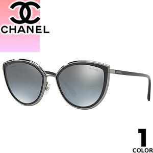 シャネル CHANEL サングラス レディース メンズ ブランド UVカット おしゃれ 薄い 色 紫外線対策 フォックス 伊達メガネ 黒 ブラック 4222 471/W6 [S]