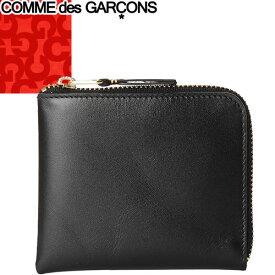 コムデギャルソン COMME des GARCONS 財布 小銭入れ コインケース メンズ レディース 2021年秋冬新作 L字ファスナー ブランド コンパクト シンプル 薄い 本革 革 レザー 黒 ブラック CLASSIC SA3100 [S]