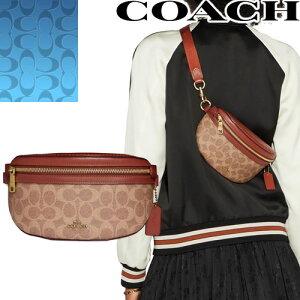 コーチ COACH バッグ ボディバッグ ウエストポーチ ウエストバッグ ベルトバッグ ショルダーバッグ レディース シグネチャー ブランド きれいめ 可愛い 斜めがけ 大人 小さめ 茶色 ブラウン Co