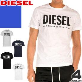 ディーゼル DIESEL Tシャツ メンズ 2020年春夏新作 半袖 トップス インナー クルーネック カジュアル ブランド 大きいサイズ 黒 白 ブラック ホワイト T-DIEGO-001978 00SASA 0AAXJ 900 100 [メール便発送]