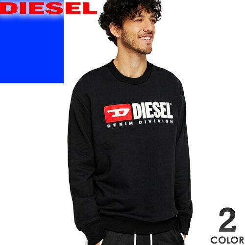 ディーゼル DIESEL スウェット トレーナー メンズ 2019年春夏新作 大きいサイズ ブランド おしゃれ 裏起毛 白 黒 ホワイト ブラック S-CREW-DIVISION 00SHEP 0CATK