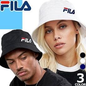 フィラ FILA 帽子 ハット バケットハット サファリハット メンズ レディース 大きいサイズ ブランド 黒 アウトドア FL 266 BUCKET HAT 143713521 [メール便発送]