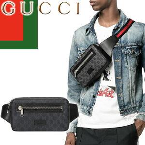グッチ GUCCI バッグ ボディバッグ ウエストバッグ ウエストポーチ ベルトバッグ メンズ レディース 2020年秋冬新作 GGスプリーム ブランド かっこいい レザー 革 GG Black belt bag 474293 K9RRN