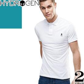 [最終SALE] ハイドロゲン Hydrogen ポロシャツ メンズ 半袖 2019年新作 白 黒 おしゃれ ゴルフ コットン 綿 大きいサイズ ブランド ワンポイント 240152 [ネコポス発送]