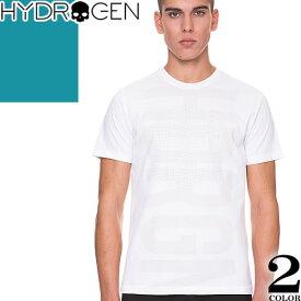 [最終SALE] ハイドロゲン Hydrogen Tシャツ メンズ 半袖 2019年新作 白 黒 ブランド 大きいサイズ クルーネック 丸首 プリント ロゴ おしゃれ 240626 [メール便発送]