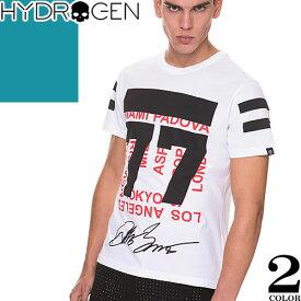 [最終SALE] ハイドロゲン Hydrogen Tシャツ メンズ 半袖 2019年新作 白 黒 ブランド 大きいサイズ クルーネック 丸首 プリント ロゴ おしゃれ 240628 [メール便発送]