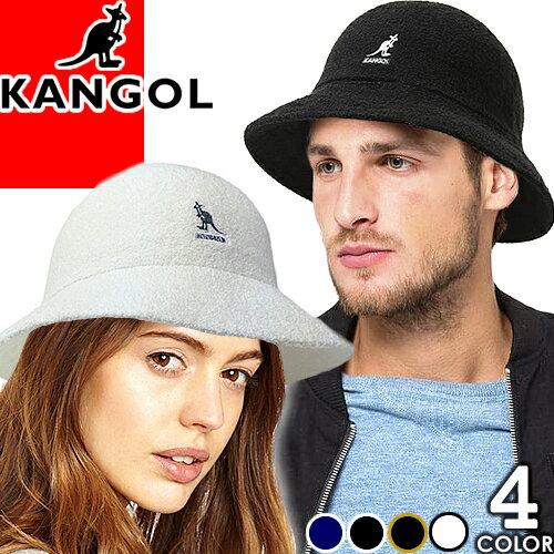 カンゴール KANGOL バケット ハット 帽子 バケットハット メンズ レディース バミューダ ワンポイント カジュアル フェルト 大きいサイズ おしゃれ 黒 白 ブラック ホワイト Bermuda Casual