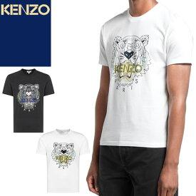 ケンゾー KENZO Tシャツ メンズ 2021年春夏新作 タイガー 半袖 ブランド プリント クルーネック 丸首 大きいサイズ 白 ホワイト TIGER T-SHIRT FB55TS0204YA 01 [ゆうパケ発送]