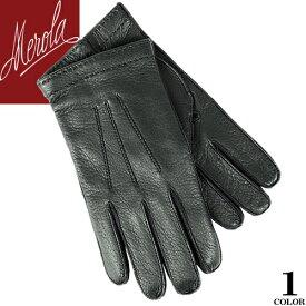 メローラ MEROLA 手袋 グローブ 革手袋 メンズ 本革 レザー ハンドメイド イタリア製 カシミア100% 防寒 ブランド ギフト プレゼント 通勤 ビジネス Deer Leather gloves U30 [メール便発送]